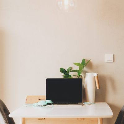 Canva - Minimalist Home Desk Workspace